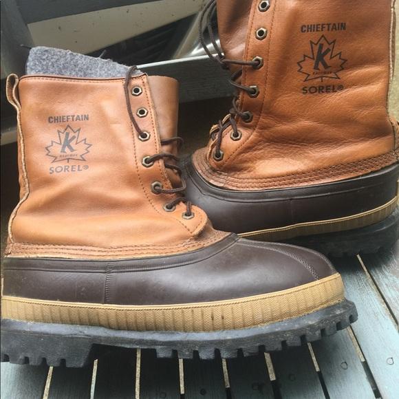 eeb9a4e91d244 Men's Vintage Sorel Chieftain Snow Boots Size 11M